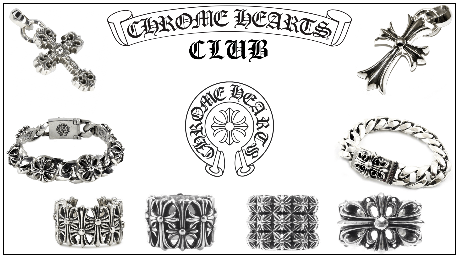Chrome Hearts silver accessories